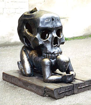 "The ""Parable with Skull,"" by Jaroslav Ronan,1992"